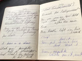 Pink fake fur diary with original lyric notes photo