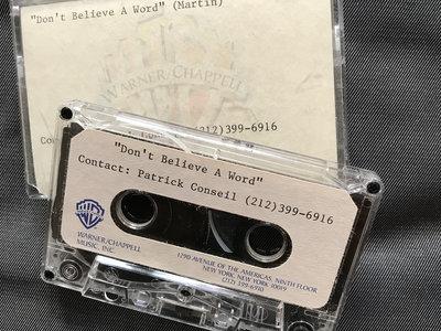 Original Cassette Demo of 'Don't believe a word' main photo
