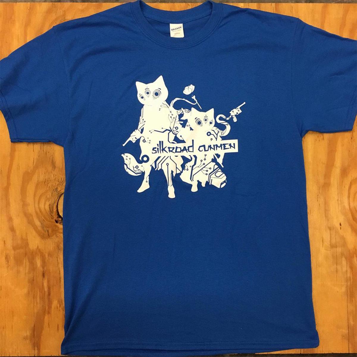 5f92ff73 High Quality Screen printed T-Shirt [ Blue Shirt / White Logo ]