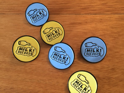 MILK! RECORDS milk logo PIN [BLUE / YELLOW] main photo