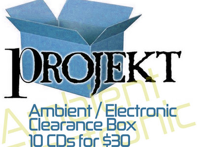 10-CDs-for-$30 Ambient / Electronic Clearance Box main photo