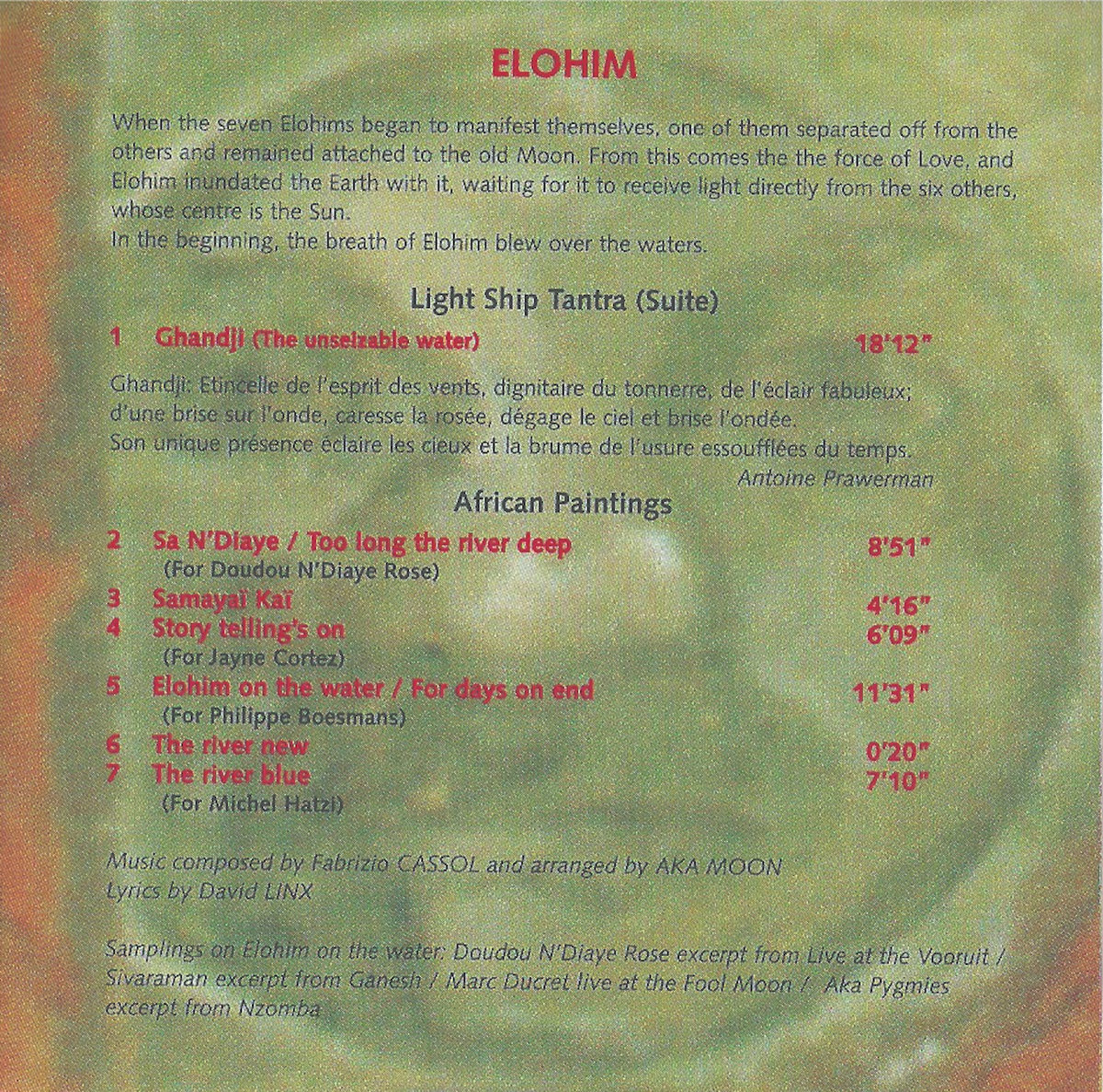 Album Elohim Produced By Guy Segers On Carbon 7 Label Includes Unlimited Streaming Of