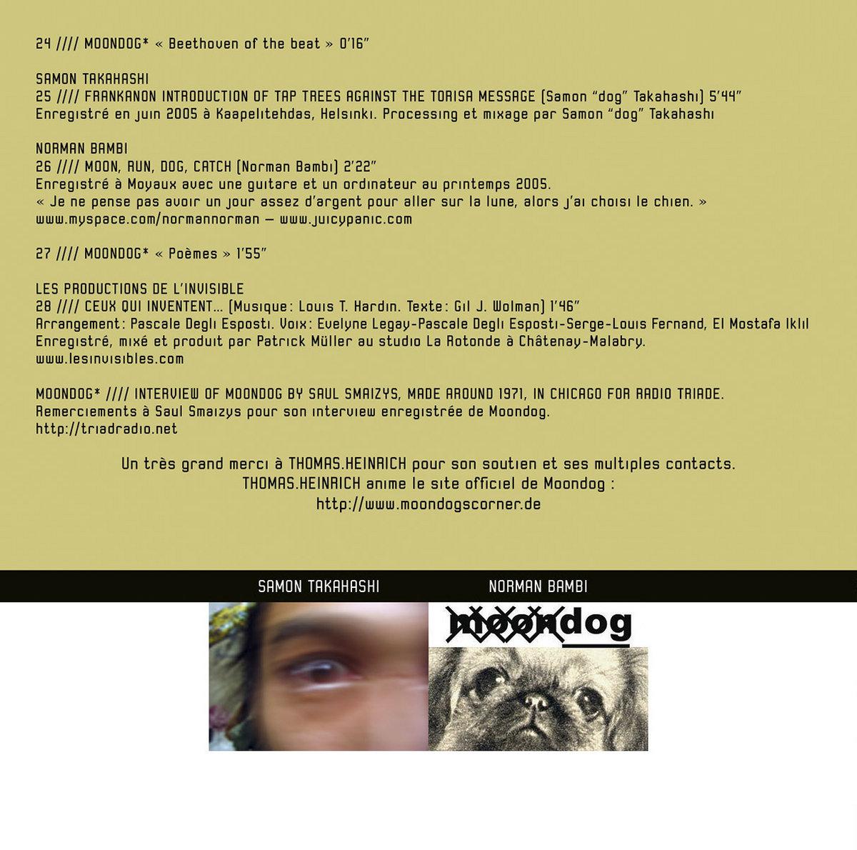 Un Hommage à Moondog | Trace Label