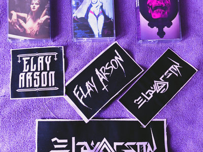 Elay Arson Jacket/Vest Logo Patch in Ghostly Purple & Black main photo
