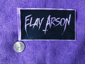 Elay Arson Jacket/Vest Logo Patch in Ghostly Purple & Black photo