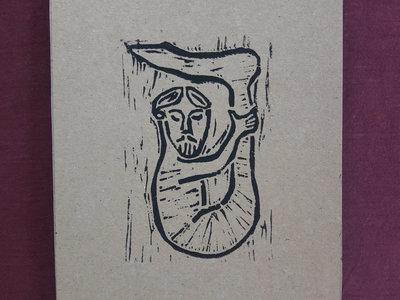 Monopod 1 - Handmade linoprint w/ B&B2 download main photo