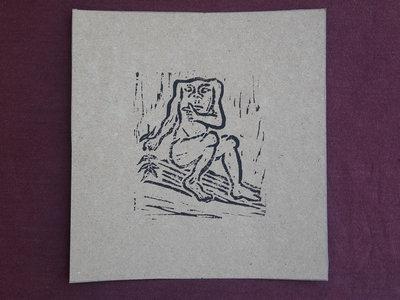 Blemmyae 2 - handmade lino print w/ B&B1 download main photo