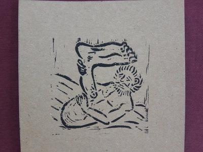 Monopod 2 - Handmade linoprint w/ B&B2 download main photo