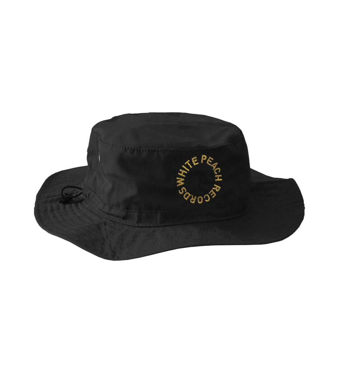 8df14516585 WPT011 - Black Bucket Hat w  Yellow Embroidery main photo
