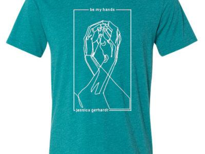 teal hands design t-shirt main photo