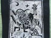 """""""Occult Lullabies"""" Linocut T-Shirt (Black) photo"""