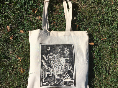 """Occult Lullabies"" Linocut Tote Bag main photo"