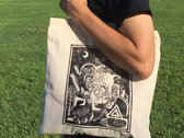 """Occult Lullabies"" Linocut Tote Bag photo"