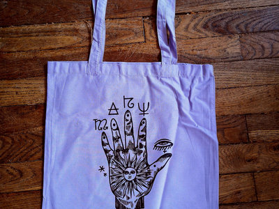 """Mary Bell - """"Astral hand"""" tote bag (4 colors !!) main photo"""