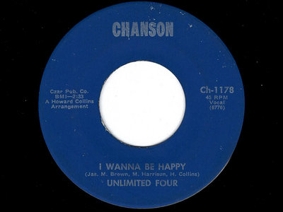 I WANNA BE HAPPY / CALLING - UNLIMITED FOUR - VG+ main photo