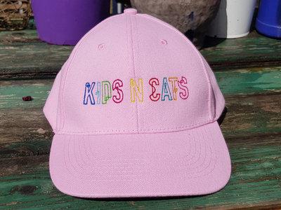 Pink Baseball Cap with KIDS N CATS Logo main photo
