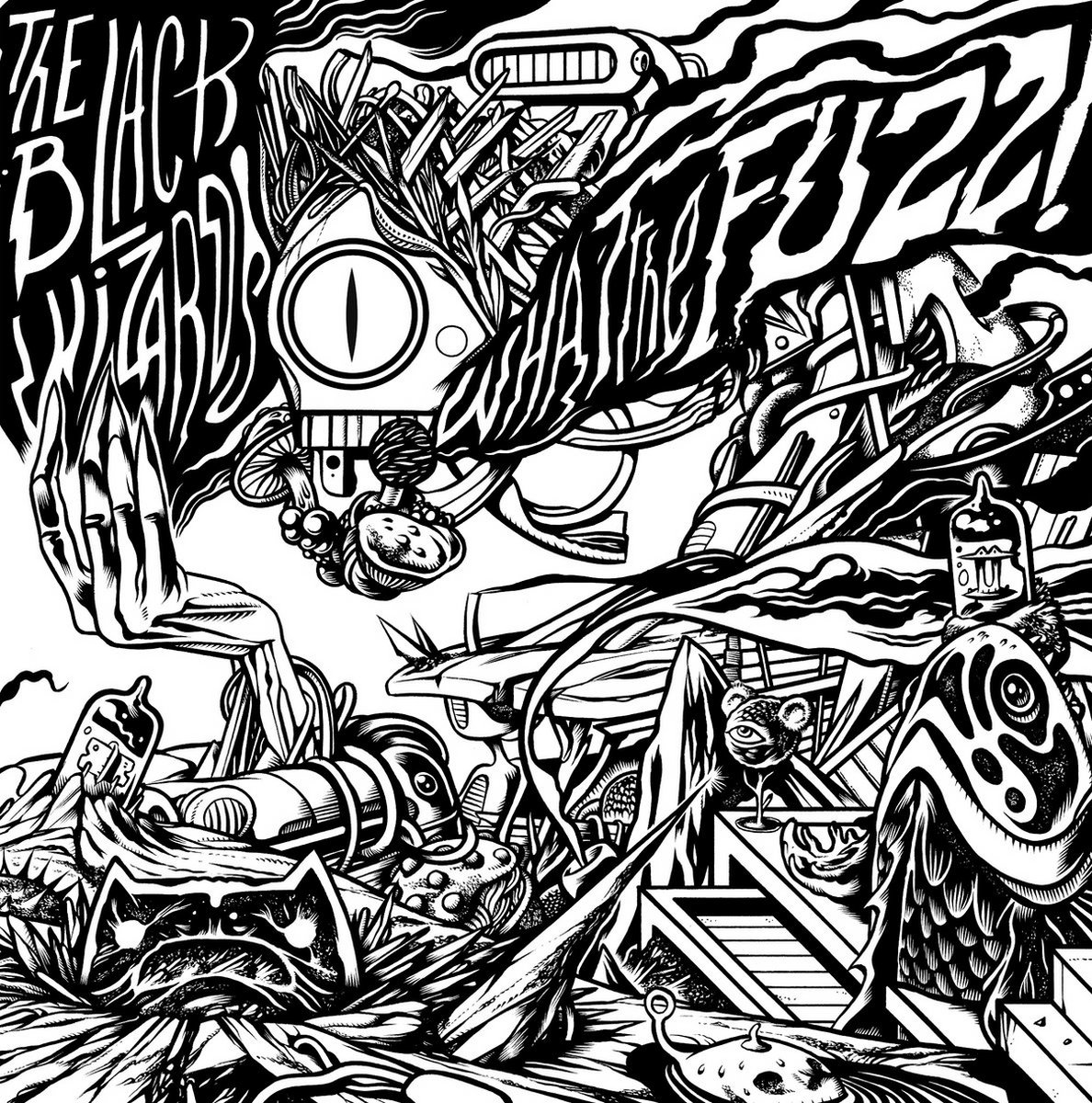 the black wizards what the fuzz ragingplanet Double Vision Album 12 black vinyl deluxe gatefold sleeve artwork by jo o maio pinto includes unlimited streaming of the black wizards what the fuzz via the free