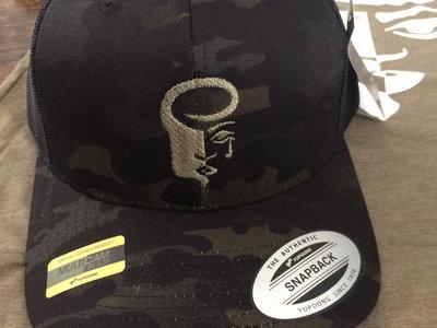 Black Camo Retro Trucker Hat main photo