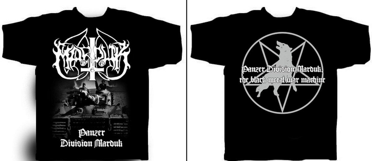 Panzer Division T-shirt Herrenmode Marduk Fanartikel & Merchandise