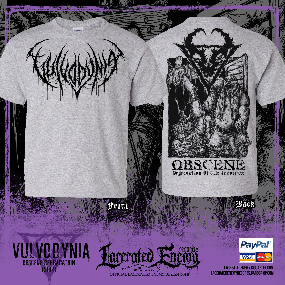 cbb90caf0 2018 OBSCENE EXTREME festival exclusive design - leftover. Sports Grey shirt  color! Limited Quantities! Only 15 pcs left