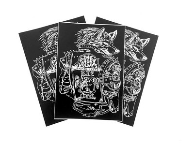 Wolf Jacket Sticker - 3 pack - free shipping in USA main photo