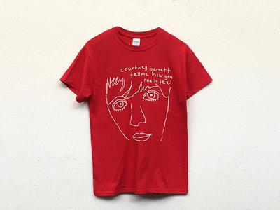 "COURTNEY BARNETT ""Tell Me Line Drawing"" by Courtney Barnett TSHIRT [RED] main photo"