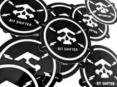 Bit Shifter vinyl sticker • skull & electrical bolts emblem (2 per order) photo