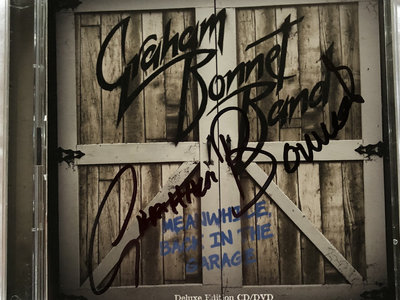 GRAHAM BONNET BAND - MEANWHILE BACK IN THE GARAGE CD/DVD SIGNED BY GRAHAM main photo