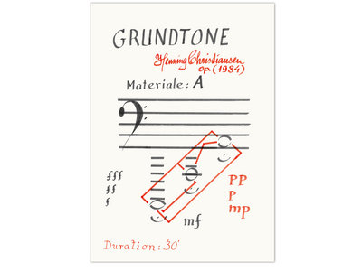 Grundtone, opus 161 – A2 poster + download main photo