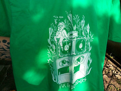 "Green DIY  ""Fuc the borders"" T-shirt main photo"