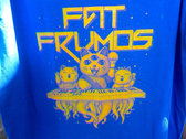 "Blue  T-shirt with Acid DIY ""Fat Frumos"" print photo"