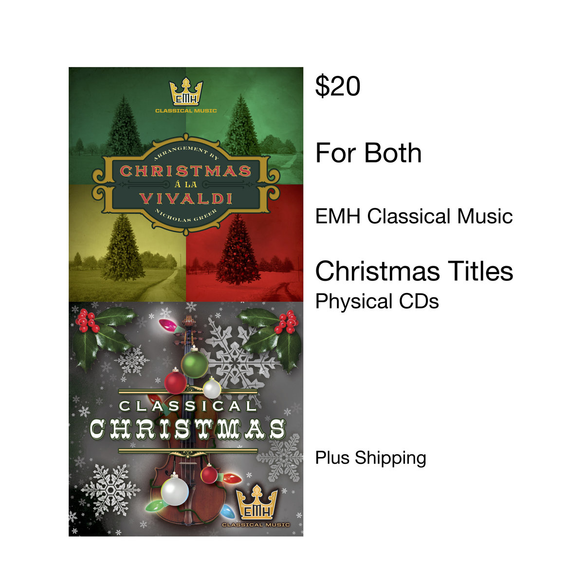 recive both of emh classical musics great holiday cds includes unlimited streaming of christmas a la vivaldi via the free bandcamp app plus high quality - Christmas Classical Music