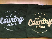 T-Shirt Bottle Green with Grey & Yellow Print - THE LAST TWO in XL photo