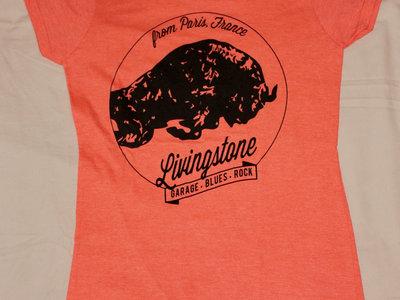"T-shirt ""Black Buffalo"" orange - Femme main photo"