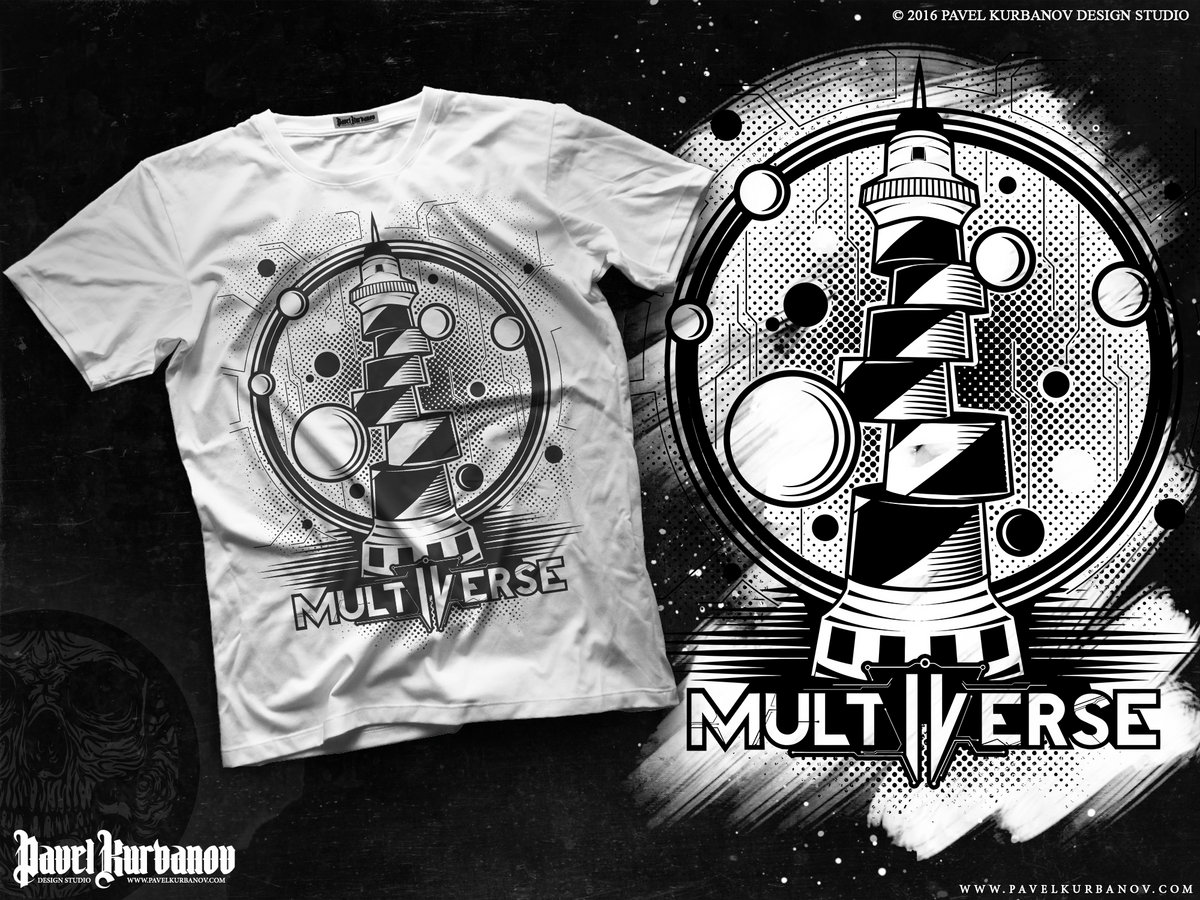 Multiverse Lighthouse T Shirt White Multiverse