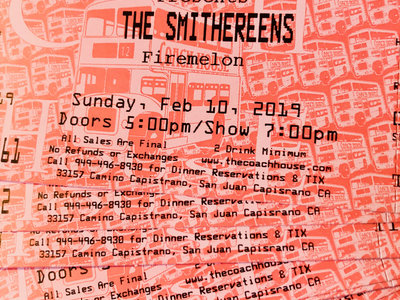 Firemelon and the Smithereens at the Coach House - SOLD OUT main photo