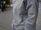 Correspondant Sweatshirt dark grey with yellow logo photo