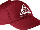 RAVE OR DIE cap - BURGUNDY with white logo photo