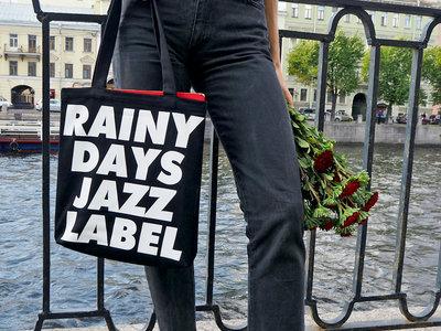 "Super Heavy Cotton Bag with ""Rainy Days Jazz Label"" (black) main photo"