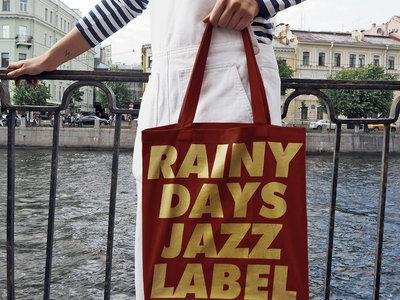 "Super Heavy Cotton Bag with ""Rainy Days Jazz Label"" (burgundy) main photo"