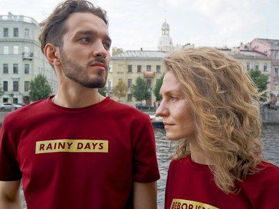 'RAINY DAYS' Burgundy T-Shirt main photo