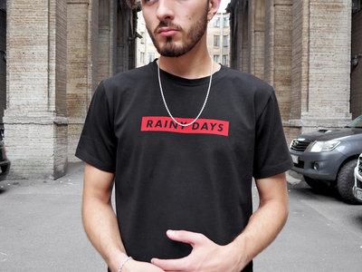 'RAINY DAYS' Black T-Shirt main photo