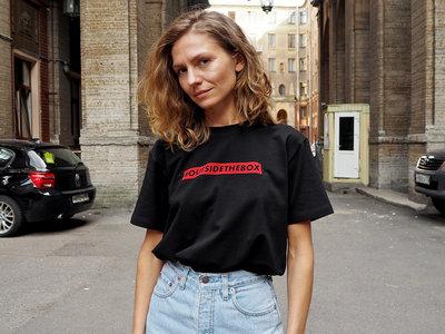 'OUTSIDETHEBOX' Black T-Shirt main photo
