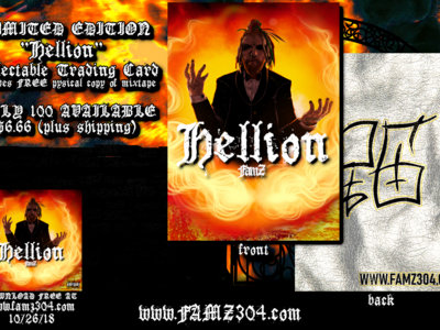 HELLION Collectable Trading Card w/ FREE hardcopy main photo
