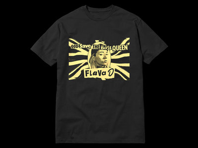 Flava D - God Save The Bass Queen T-Shirt - Black main photo