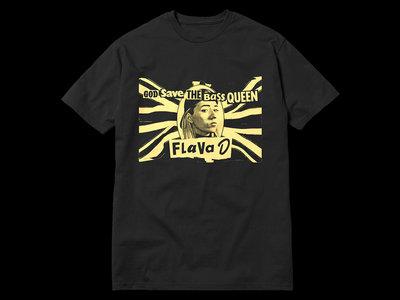Flava D - God Save The Bass Queen T-Shirt - Black (Sale) main photo