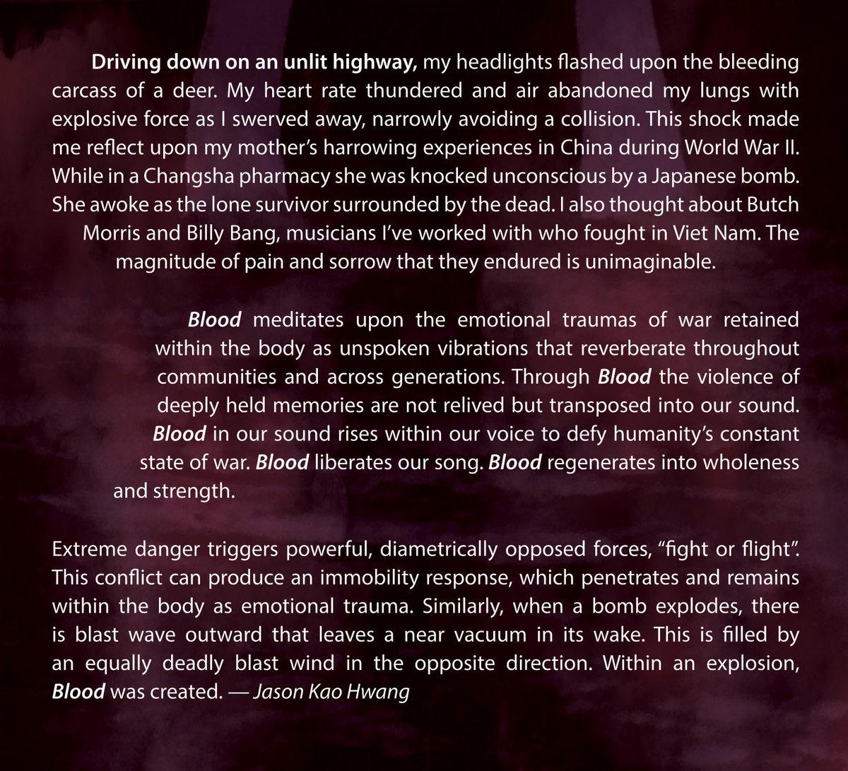 Blood (New 2018 Release!)   Jason Kao Hwang