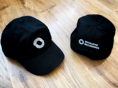Whirlwind Adjustable Baseball Hat (white & black) main photo