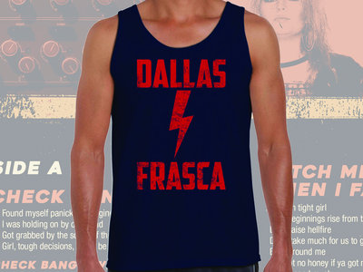 UNI SEX - Dallas Frasca - Blue Lightening Bolt - Singlet main photo