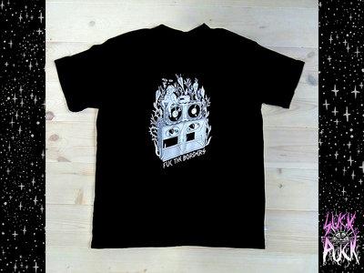 "Black DIY ""Fuc the borders"" T-shirt main photo"